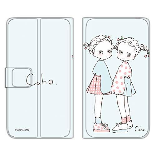 Caho Qua phone QX KYV42 ケース 手帳型 薄型プリント手帳 ふわふわE (ch-025) スマホケース キュア フォン キューエックス 手帳 カバー スマホカバー WN-LC126119_MX