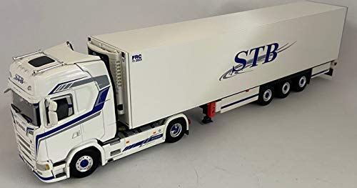 WSI WSI01-3218-SCANIA S Highline CS20H 4x2 con rimorchio frigo 3 assi STB- scala 1:50