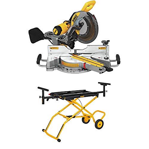 DEWALT DWS779 12' Sliding Compound Miter Saw and DWX726 Rolling Miter Saw Stand