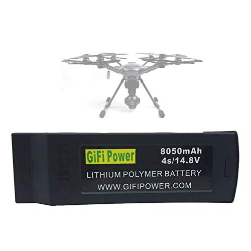 14,8V 8050mAh Flight Batterie Kompatibel mit Yuneec Typhoon H H480 RC Drone, Wiederaufladbar RC Quadcopter 4S Lipo Akku, Ersatz Batterie Ersatzteile