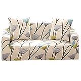 Funda de sofá impresa, fundas elásticas, fundas universales para sofá para sillón, sofá o sofá grande (4 plazas), color blanco