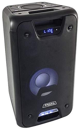IBIZA FREESOUND300 AKKU AKTIV LAUTSPRECHER BOX 300W LED BLUETOOTH USB MICRO-SD UND FERNBEDIENUNG PARTY DISCO MUSIK DJ EVENT BÜHNE BESCHALLUNGSANLAGE SOUNDSYSTEM