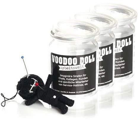 3er-Pack: Voodoo Doll in Dose | lustige Mini-Voodoo-Puppe to go | ARBEITSWELT Voodoo-doll | imaginäre Strafen für