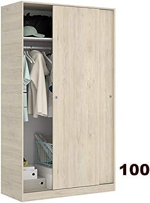 Habitdesign LCX323O - Armario ropero de Tres Puertas y Tres ...