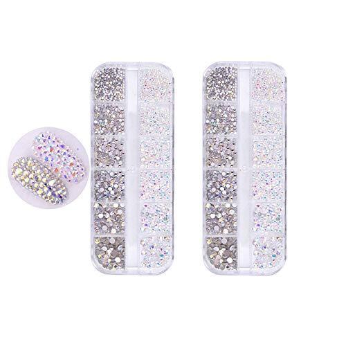Pure Vie 2 doboz 1440 piezas 3D Nail Glitter Pedrería para Uñas Decoración de Arte de Uñas Diamantes Brillantes Preciosas de Acrílico #2