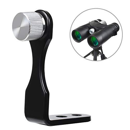 Kylietech - Adaptador universal para trípode binocular, soporte en L, adaptador de montaje de trípode de metal, 50 mm con rosca doble de 1/4 pulgadas para prismáticos y cámaras telescópicas