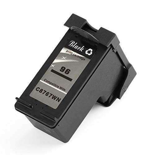 SKYYKS Cartucho de Tinta económica de Color Negro Cartucho de Tinta Lisa Adecuado para HP96 Compatible para HP Deskjet 5740 6540