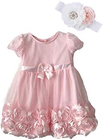 Bow Dream Baby Girls Dress Toddler Tutu Infant Flower Girl Wedding Dress Pink 12 18 Months product image