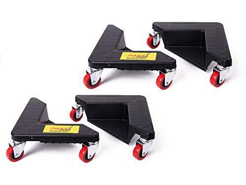 Pake Handling Tools - Furniture Corner Mover 3 Wheel Dolly- Low Profile Wheel Dollies Set of 4-1320 lb Load Capacity