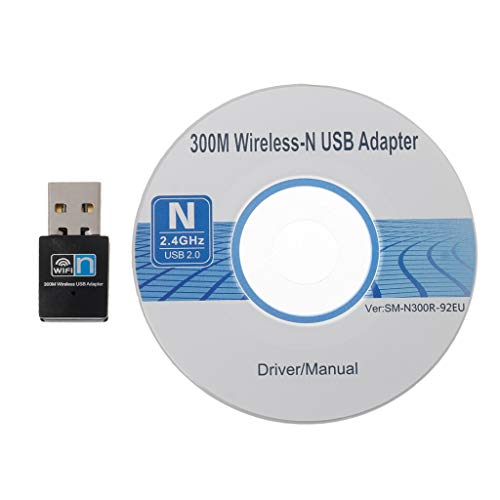 Ontracker RTL8192 - Adaptador WiFi inalámbrico (300 Mbit/s, USB RTL8192, receptor inalámbrico, tarjeta de red, antena 802.11 N/G/B, adaptador LAN, para ordenador de sobremesa, portátil