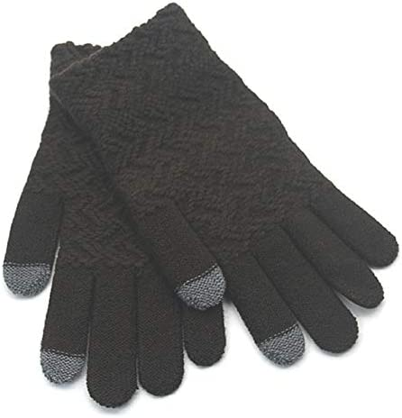 Gloves Men Winter Warm Soft Simple Outdoor All-match Trendy Fashion Leisure Bicycle Adults Mittens Mens Glove New - (Color: brown, Gloves Size: One Size)