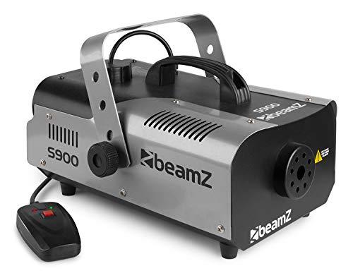 Beamz S900 Nebelmaschine mit Fernbedienung & 5 Liter Nebelflüssigkeit pink (900 Watt, 200m³/min Nebelausstoß, 4 Meter Ausstoß-Reichweite, 8 Minuten Aufheizzeit) schwarz