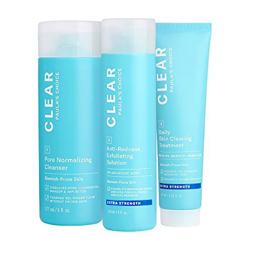 Paula's Choice CLEAR Extra Strength Acne Kit, 2% Salicylic Acid & 5% Benzoyl Peroxide for Severe...