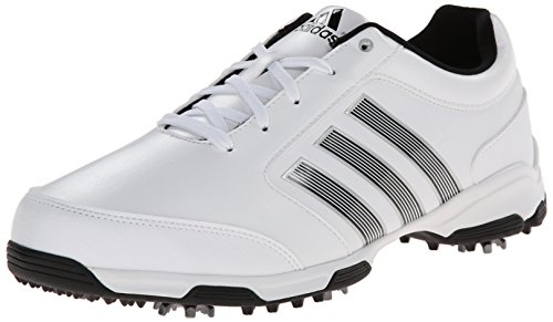 adidas Men's Pure 360 Lite Golf Shoe, Running White/Core Black/Core Black, 12 M US