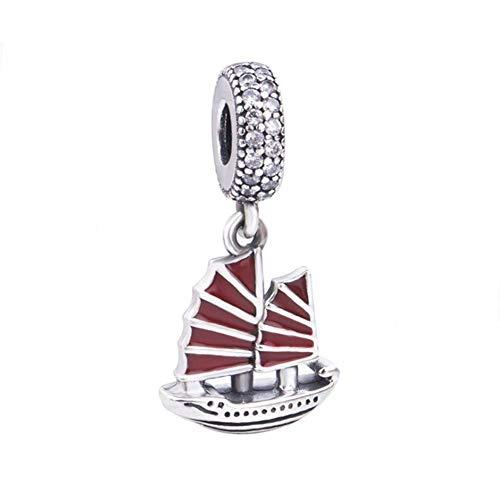Encanto de barco de vela de plata de ley 925 encanto del...