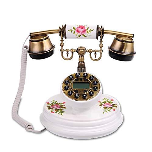 YUBIN Teléfono Teléfono Antiguo Vintage Retro Landline House Home Teléfono Auricular, Máquina con Cable Conjunto de dial clásico BT Antik