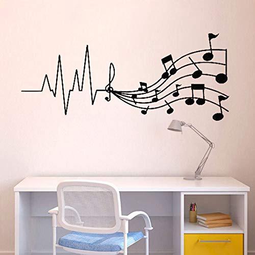 yaonuli Music Melody Music Store voor kinderkamer muursticker Vinyl Art verwijderbaar Applique wallpaper