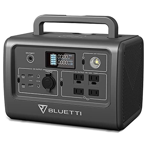 BLUETTI(ブルーティ) EB70 ポータブル電源 718Wh AC(700W 瞬間最大1400W)/ワイヤレス充電/DC/USB出力 純正弦波 家庭用蓄電池 四つの充電方法 MPPT制御方式 LEDライト付き ポータブルバッテリー 車中泊 キャンプ アウトドア 防災グッズ 停電時に 非常用電源 50Hz/60Hz対応 (Gray)