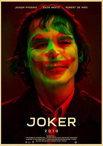 baodanla Vintage Poster Newly Movie The Joker Retro Poster Papel Kraft Impreso Wall Posters para Home Bar Room Decor60x90cm(Sin Marco)