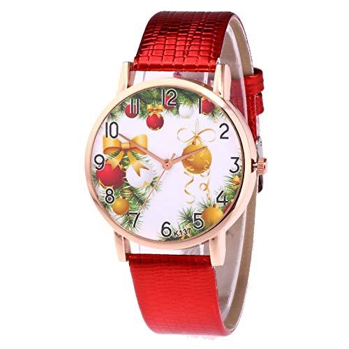 JZDH Relojes para Mujer Reloj de Cuarzo de Las señoras Moda de Alta Gama Alta Elegante Vidrio Azul Distinguidos Relojes de Damas Relojes Decorativos Casuales para Niñas Damas (Color : Multicolor)
