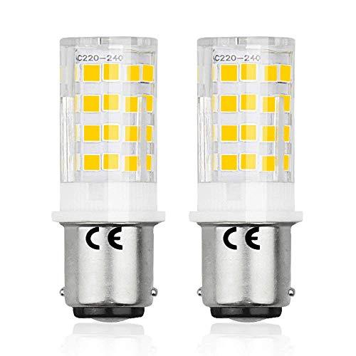 Bonlux BA15d SBC LED Bombilla 220V 4W para Máquina de Coser con Doble Conecto (2-Packs, Luz Fría, Reemplazo de 35W Halógena)