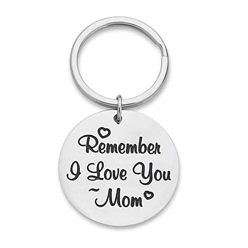 LZHLMCL Girl Keyrings Keychains Mothers Day Gifts Keychain Mom From Daughter Son Remember I Love You Birthday Gifts Women Mommy Key Ring