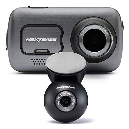 Nextbase 622GW Full 4k HD In Car Dash Cam Camera- Bluetooth- Quicklink WIFI- GPS- Alexa Enabled- Night Vision- G-Sensor and SOS Emergency Response- With Rear Dash Cam, Full Rear View