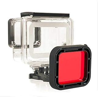 غطاء حماية مضاد للماء حتى عمق 45 متر مع فلتر احمر لكاميرا جو برو هيرو 5