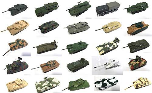 OPO 10 - Lotto di 25 Diversi Carri Armati Militari 1/72: Leopard, Flakpanzer, Tiger, Chieftain, Max, Merkava ......
