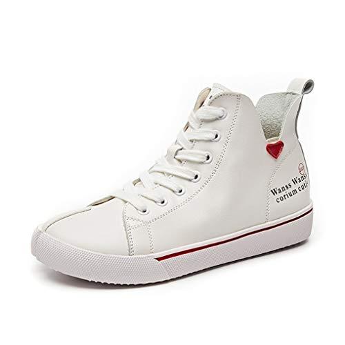 Frauen lässig einges kleine weiße Schuhe frühling und Herbst mittelschüler kleine Stiefel Bequeme Spitze Liebe Flache weiße Schuhe lässig Wilde Schuhe Wanderschuhe