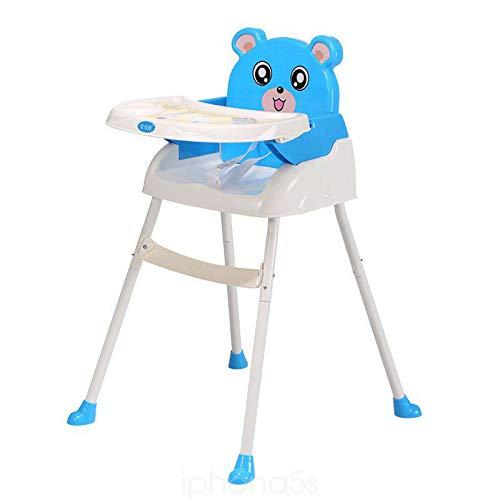 WUPYI2018 Baby Kinderhochstuhl,Klappbar Babyhochstuhl mit Tablett,Höhenverstellbar (Blau)
