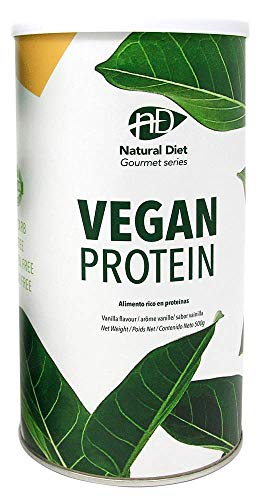 Natural Diet - PROTEÍNA VEGANA VEGAN PROTEIN - Vainilla - 500 gr.