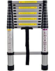 MCTECH® Aluminium telescopische ladder, inklapbaar, 3,2 m, multifunctionele ladder, vouwladder, 150 kg belastbaarheid (3,2 m)