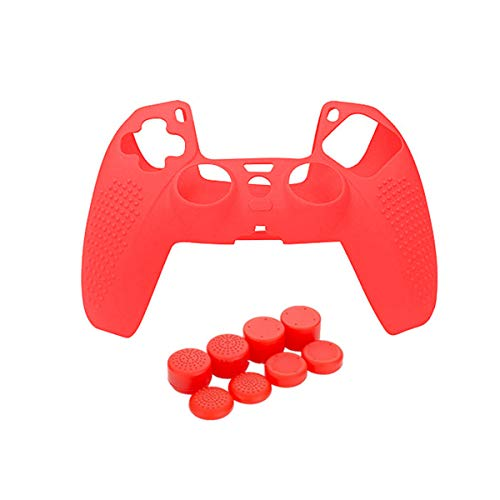 PS5 Controller Silicone Protector Case & Rocker Thumb-Stick Grip Set, Skin Grip Anti-Slip Silicone Cover,Dustproof Durable Controller Grip Protector Anti-Slip Game Protector Case Apply