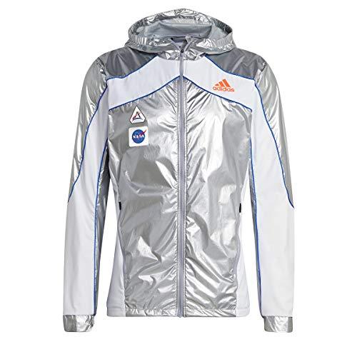 adidas Herren Space Jkt M Jacke, Matte Silver/White, L EU