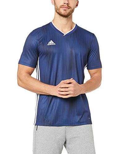 adidas Herren TIRO 19 JSY T-Shirt, Dark Blue/White, XL