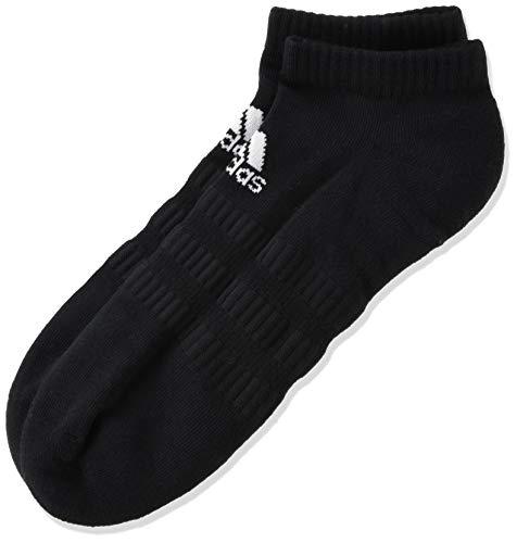 adidas CUSH LOW 3PP Socks, Unisex adulto, Black/Black/Black, S