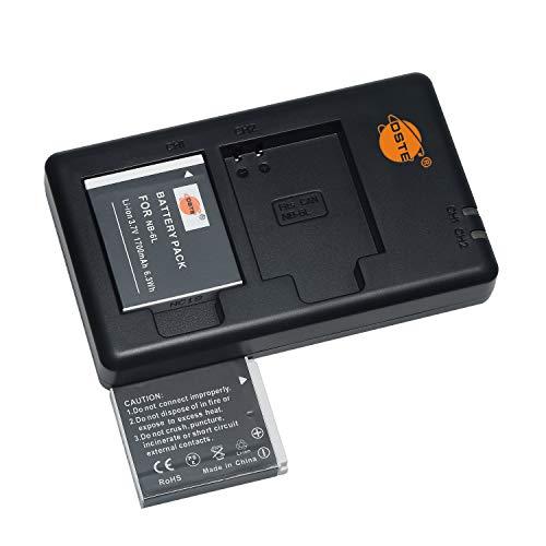NB-6LH 6L - Batería de repuesto recargable y cargador dual compatible con Canon PowerShot SX280 HS,SX500 is,SX510 HS,SX600 HS,SD4000 is,D10,D20,ELPH 500 HS,S90,S95,S120 SLR (2 unidades)