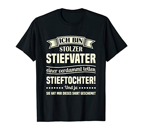 Herren T-Shirt Stiefvater | Stiefpapa Stieftochter Bonuspapa Spruch