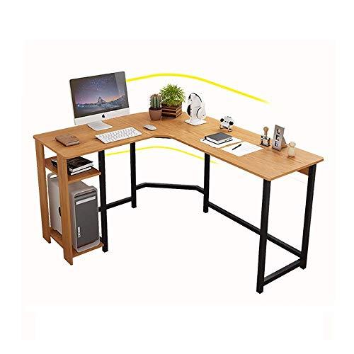 Esquina de oficina de madera L Mesas de oficina en forma de escritorio de la esquina, Estilo industrial Computer Gaming Desk Forkstation Workstation para la oficina de la oficina de la oficina del hog