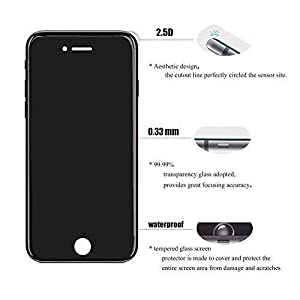 Screen Protector Glass for iPhone 8/7, pehael 2.5D Round Edge[HD Clear] Tempered Glass Screen Protector for Apple iPhone 8,7 (2pack)