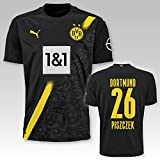 PUMA BVB Auswärtstrikot Kinder Saison 2020/21, Größe:140, Spielername:26 Piszczek
