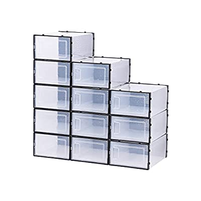 Amazon - 10% Off on Shoe organizer side door shoe storage for closet,12 pack xl boot &shoe