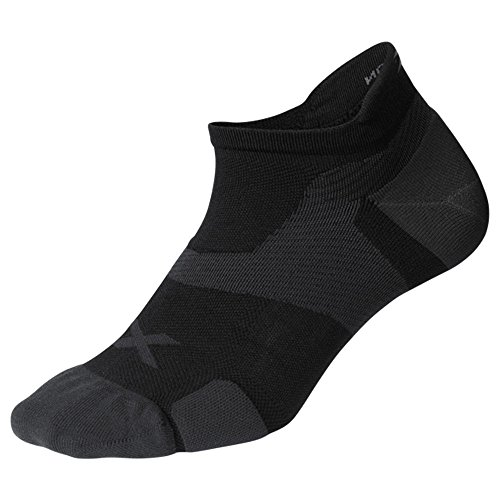 2XU Unisex Vectr Cushion No Show Socken xl Schwarz/Titanium