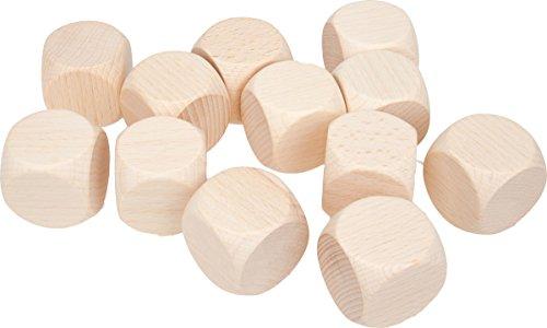 GICO 12 Stück Blankowürfel Holzwürfel Natur 30 mm Kantenlänge - Gebetswürfel 5970