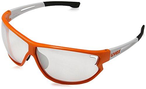 Uvex Unisex Erwachsene Sportsonnenbrille Uves Sportstyle 810 Vm Sportbrille, Orange White, One Size