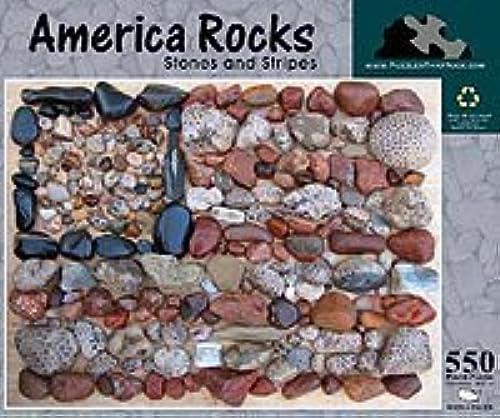 Envío rápido y el mejor servicio America Rocks, Rocks, Rocks, Stones and Stripes 550 Piece Puzzle by Puzzles That Rock  barato en alta calidad