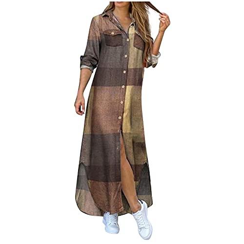 MORCHAN Femmes Summer Party Longue Robe Maxi O-Cou sans Manches Robe Tankback