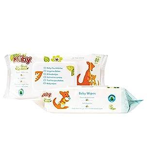 Nuby - Toallitas húmedas para bebé (2 paquetes de 80 unidades)