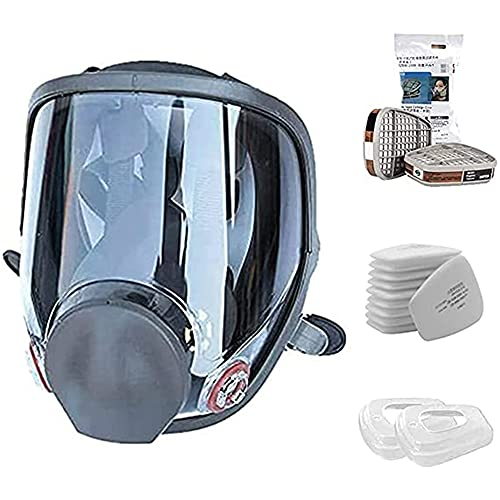 15 in 1 Full Face Respirator,Anti-Fog Respiratory Supplies Wide Field of View,Suitable for Spray Paint, Coating, Chemical Industry, Welding